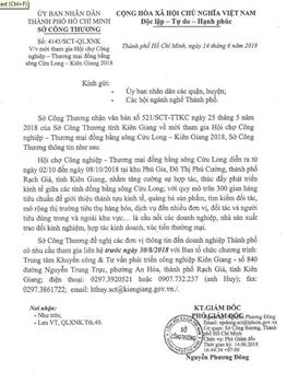 Mời Tham gia Hội chợ Công nghiệp - Thương mại đồng bằng sông Cửu Long – Kiên Giang 2018