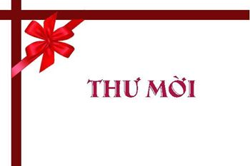 Thư mời Hội thảo (Phổ biến thông tin thị trường Đông Nam Á và cơ hội xuất khẩu cho hàn hóa Việt Nam)